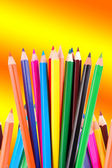 Many crayons — Stockfoto