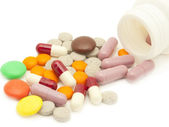 Pills and vitamins — Stock Photo