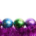 Weihnachten Kugeln und Lametta — Stockfoto