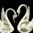 Crystal swan - Stock Photo