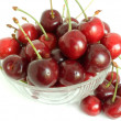 Cherries on dessert dish — Stock Photo #1179625