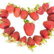 Strawberry heart — Stock fotografie