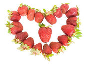 Strawberry heart — Stock Photo