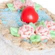 Festive cream cake — Stock Photo #1193989