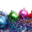 Varicoloured Christmas balls — Foto Stock