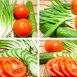 Stock Photo: Mixed freshness vegetables
