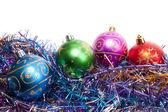 五颜六色的圣诞球 — 图库照片