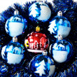 Spherical Christmas ornaments — Stock Photo