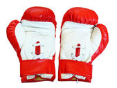 Leather boxing gloves for fight — Stock Photo