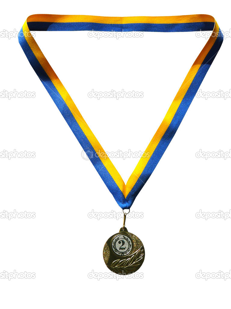 The aspiration to a sports victory leads to a medal — Stock Photo #1181353