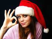 Girl in a red cap — Stock Photo