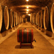 Stock Photo: Barrels with the wine alcohol