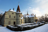 Castle in winter, Ukrain — Stock Photo