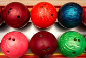 Balls for bowling — Stock Photo