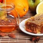ainda vida de mel — Foto Stock