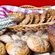 Different loafs of bread — Stock Photo #1221012