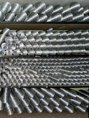 Aluminium ventilating pipes — Stock Photo