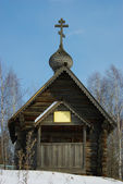 Timbered chapel — Stock Photo