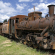 Old rusty steam locomotive - Stock Photo