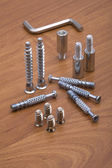 Set of modern bolts and screws — Stock Photo