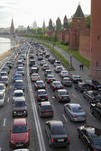 Hard urban traffic in Moscow — Stock Photo