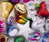Set of christmas decorations — Stock Photo