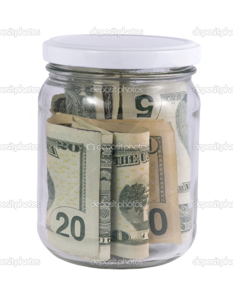 Money in a glass jar — Stock Photo #1976746