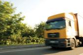 Truck - high speed — Stock Photo