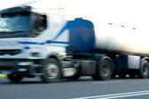 White truck on high speed — Stock Photo