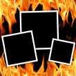 Old frames with fire flames — Stock Photo #1249728