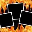 Old frames with fire flames — Stock Photo #1249767