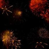 Fireworks backgroud — Stock Photo