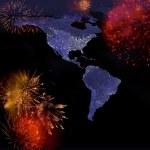 America at new years night — Stock Photo