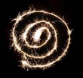 Sparkler spiral — Stock Photo