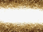 Gold tinsel frame — Stock Photo