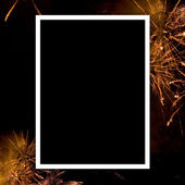 Empty photo with fireworks — Stock Photo