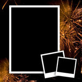 Empty photos with fireworks — Stock Photo