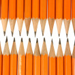 Orange pencil tips close up — Stock Photo