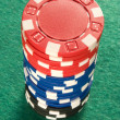 A stack of colorful poker chips. — Stock Photo #1883736