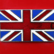 British Union Jack Flag badge. — Stock Photo