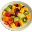 Healthy mixed fruit salad plate isolated — Stock Photo