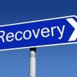 Signpost along the road to recovery. — Stock Photo