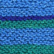 Knitted blue and green wool. — Stok fotoğraf