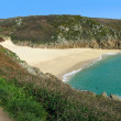 Royalty-Free Stock Photo: Panoramic view Porthcurno.