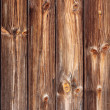 Dark brown panels in a wooden fence. — Foto Stock