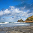 Portreath beach and pier. — Stock Photo