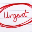 Urgent circled in red ink. — Stock Photo #1888491