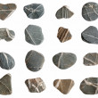 Beach pebbles collection isolated. — Stock Photo #1888585