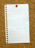 Page stuck to a cork board. — 图库照片