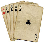 Aces and eights, the dead mans hand. — Stock Photo